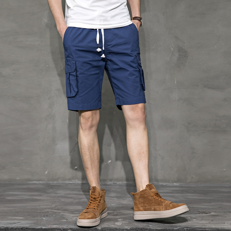 Summer Men Shorts Casual Fashion Beach Cargo Shorts Hipster With Pockets Streetwear Stretch Erkek Giyim Vanquish Fitness XX60MS