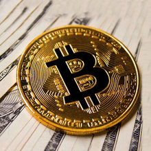 Bitcoin Coin Souvenir Gold Plated Bitcoin Coin Collectible Collection Gift Commemorative Bit Coin BTC Metal Antique Imitation