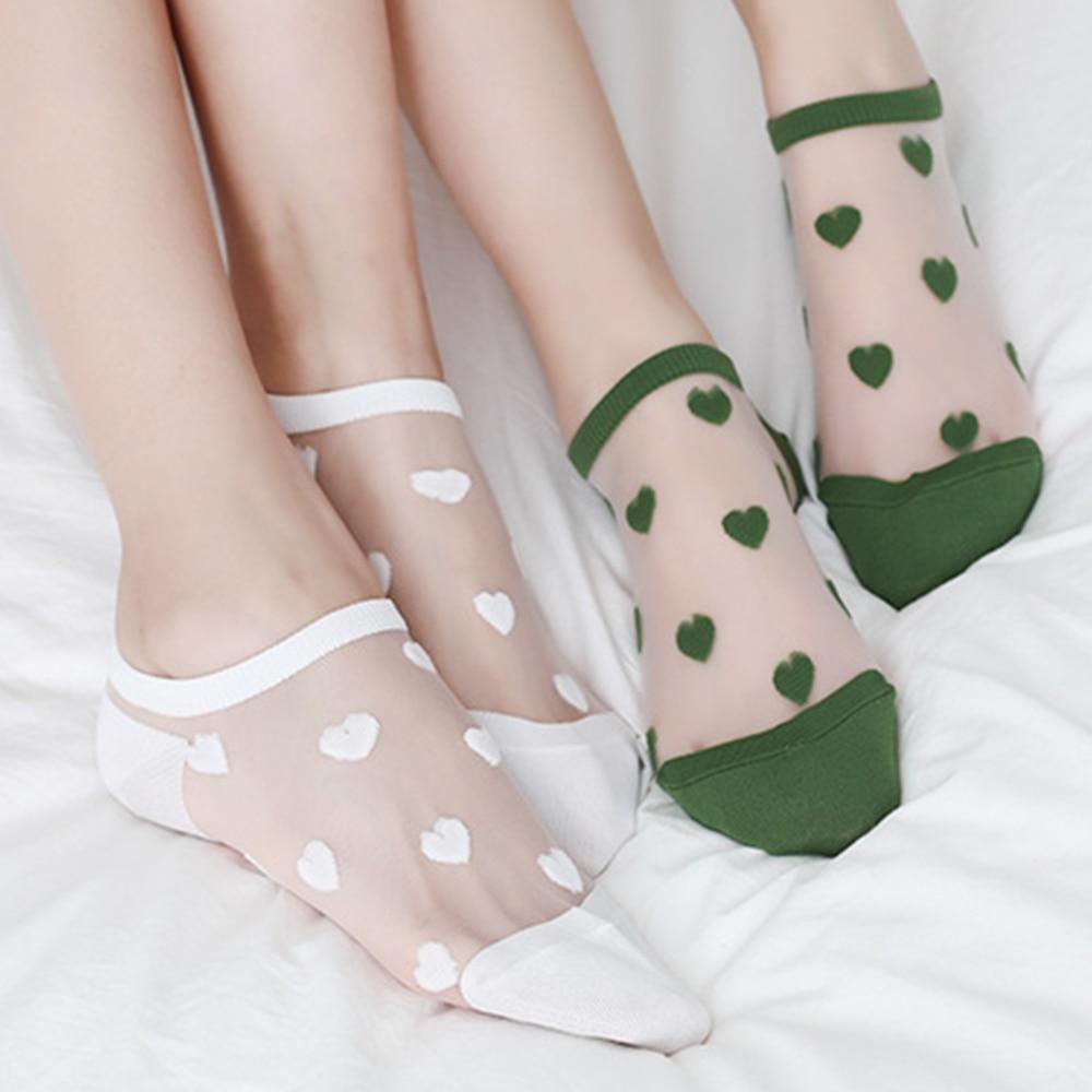 1 пара, тонкие женские прозрачные жаккардовые носки до щиколотки