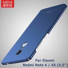 Msvii xiaomi redmi nota 4x caso ultra fino capa para xiaomi redmi nota 4 caso global xiomi 4x capa para xiaomi redmi 4x casos