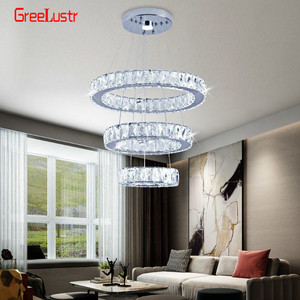 Image 5 - Modern K9 Crystal Led Chandelier Lights Home Lighting Chrome Lustre Chandeliers Ceiling Pendant Fixtures  For Living Room