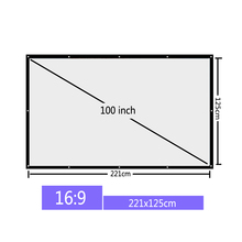 Vivicine 100 inch 16:9 Portable Projection Screen Projector Screen for Home theater LED Projector Proyector Beamer