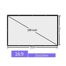 Vivicine 100 zoll 16:9 Tragbare Projektion Bildschirm Projektor Bildschirm für heimkino FÜHRTE Projektor Proyector Beamer