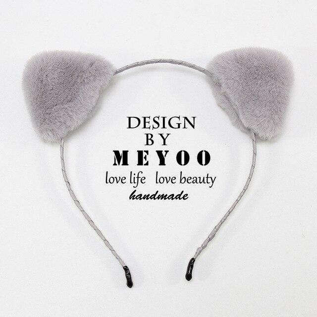 Lady Fashion Women Girls Cat Ears Pearl Rabbit Hairband Headband  Lovely JS