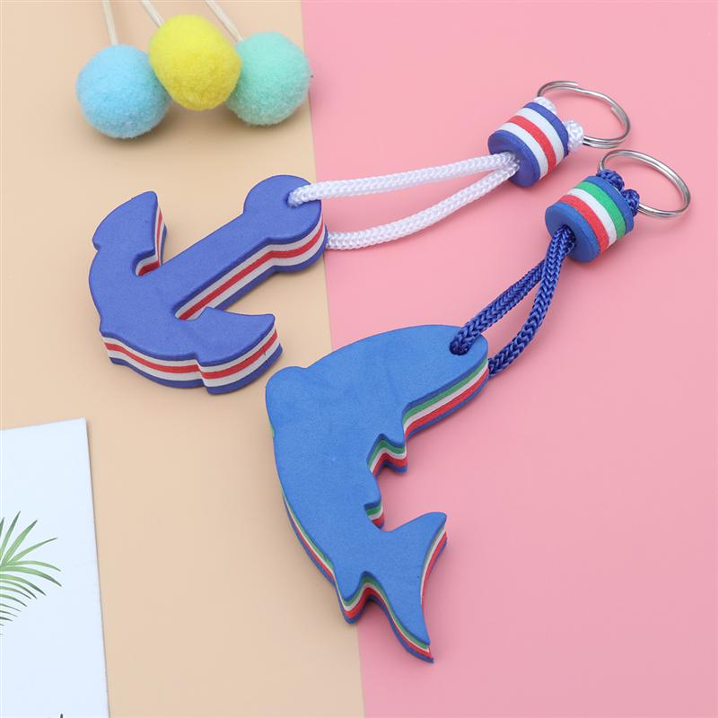 EVA Dolphin Floating Keyring Keychain for Kayak Nautical Boat Swim Sailing