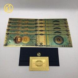 10 шт./лот один или сто биткоинов пластиковые сувенирные Позолоченные банкноты пластиковые карточки билет для забавной коллекции