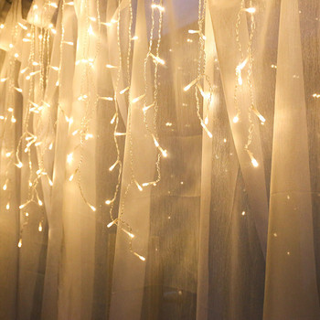 Led Curtain Icicle Rope Light 220V Outdoor Garden Stage Decorative Light EU Plug 220V for Wedding, Festival Christmas Party 2020 image