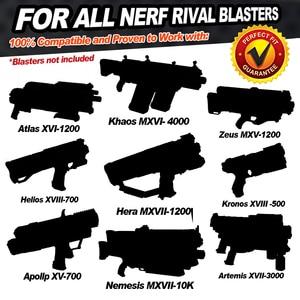 Image 2 - 100 rund dla Nerf Rival Refill Rival rzutki naboje do zabawkowego pistoletu dla rywala zabawka Nerf Gun Ball Dart dla Nerf Rival Apollo Zeus Gun