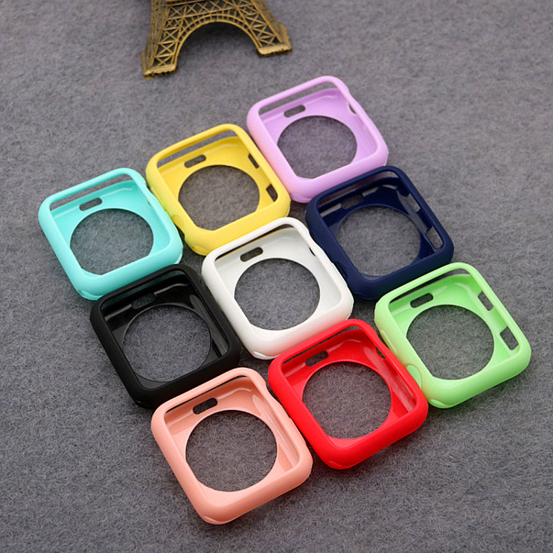 Cover For Apple Watch Case 44mm 40mm IWatch Case 42mm 38mm Silicone Bumper Screen Protector Apple Watch 5 4 3 42 38 40 44 Mm