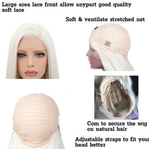 Image 5 - Парик Из прямых синтетических волос Charisma, шелковистые парики #60 блонд, термостойкие парики с натуральными волосами для женщин