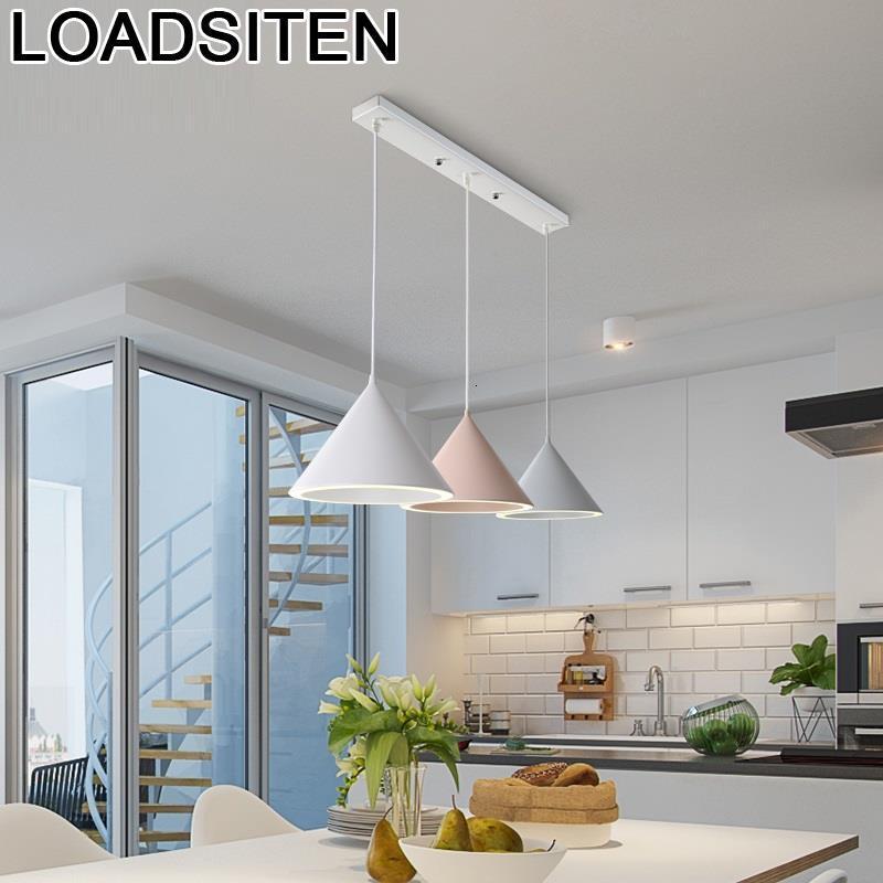 Moderne Design Nordic Kitchen Industrial Home Led Loft Decor Lampara Colgante Suspension Luminaire Deco Maison Hanging Lamp