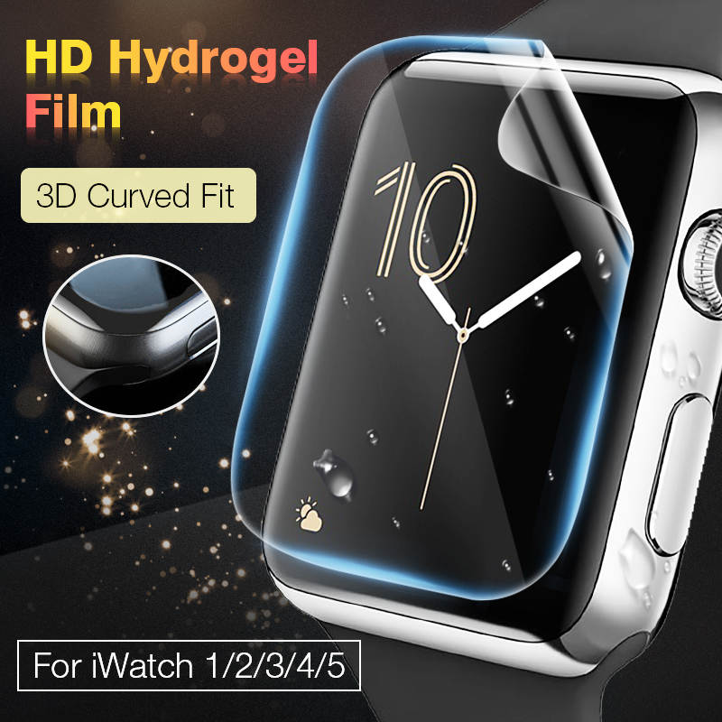 Hydrogel-Screen Film-Protector Protective-Film Apple Watch 40MM 38MM 44MM Full-Coverage