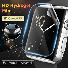 2 unids/lote hidrogel de película protectora para pantalla de reloj para Apple iPhone 5 6 4 3 2 cobertura completa película protectora para Iwatch 40MM 44MM, 42 MM, 38MM M