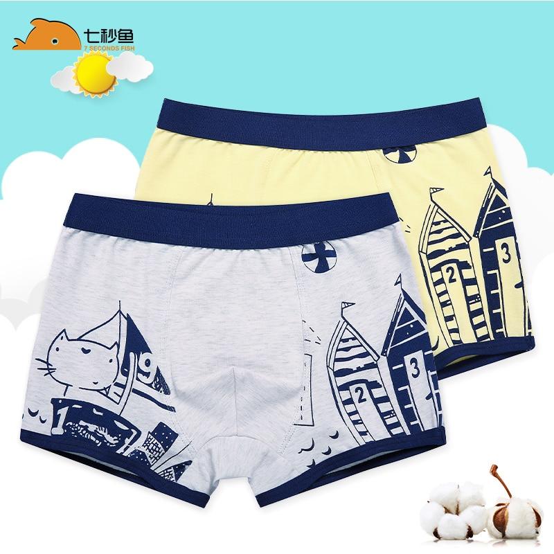 Boy Underwear Kids 2020  95% Cotton Soft Cartoon Panties 2-14 Years Children Underpants