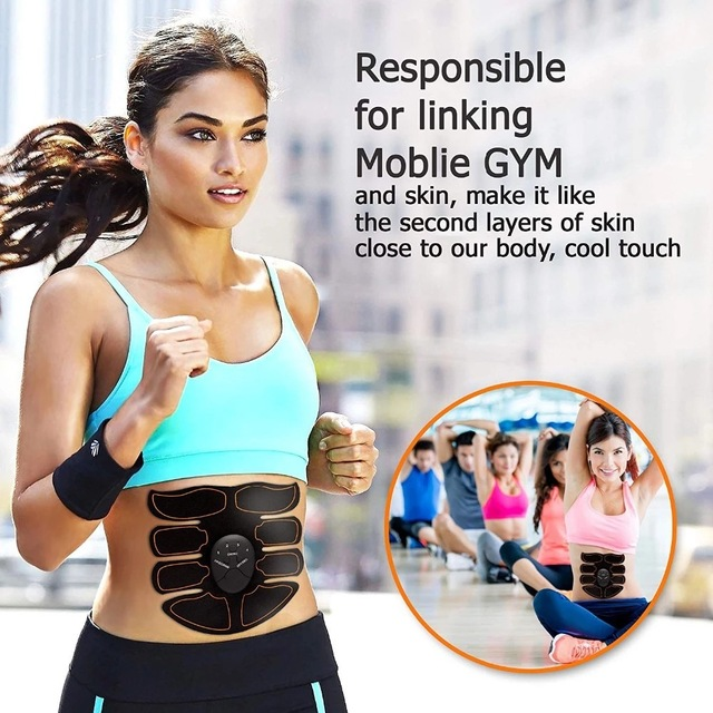 Electric muscle stimulator ems wireless hip buttocks trainer abdominal abs fitness stimulator body weight loss massager 1