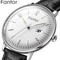 Fantor Top Marke Casual Business Uhr Männer Leder Quarz Armbanduhren Mann uhren mit Datum Leuchtende Wasserdichte Uhren für Männer