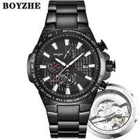 2019New Männer Automatische Mechanische Uhr Fashion Casual Luxury Edelstahl Top Marke Sport Selbst Wind Uhren Relogio Masculino