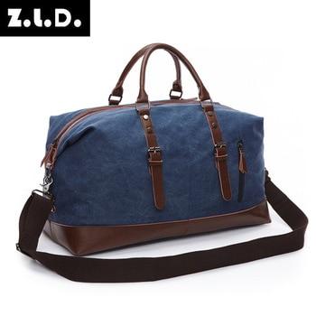 Western Style Solid Color Makani Canvas Travel Bag Outdoor Large Capacity Men Casual Multifunction Shoulder Bags Bolsa Grande