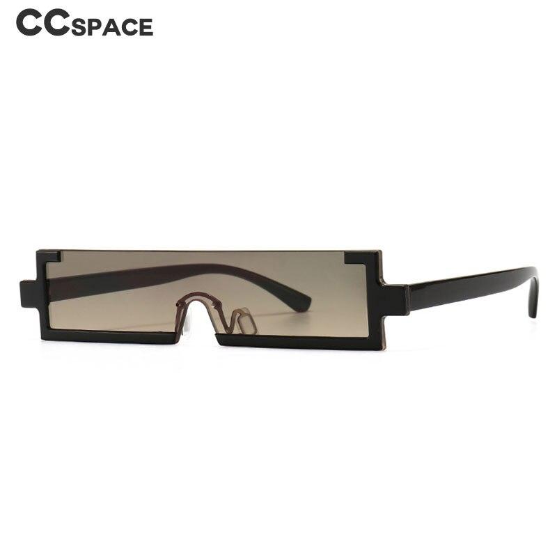 Gafas de sol rectangulares de medio marco para hombre y mujer, anteojos de sol unisex, a la moda, estilo Vintage, con UV400, 46654