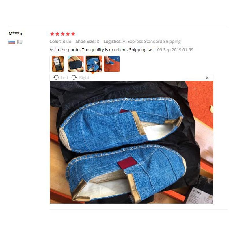Image 5 - OUDINIAO أحذية رجالي حذاء قماش رجالي غير رسمي تنفس الرجال الصينية موضة 2019 لينة الانزلاق على رياضة قماشية حذاء رجالي-في أحذية رجالية عادية من أحذية على AliExpress