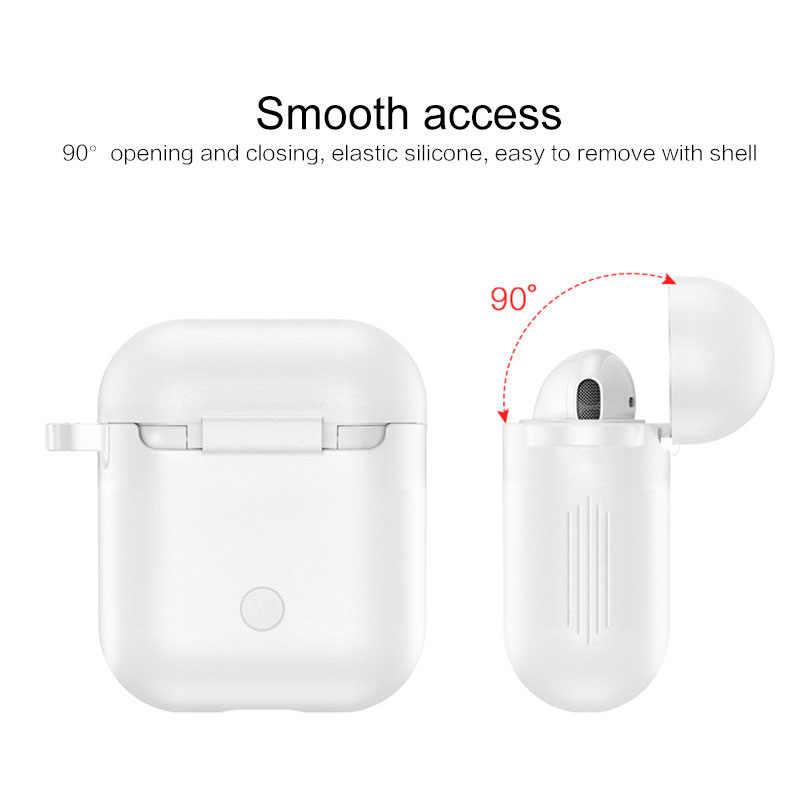 Para Airpods Bluetooth silicona auriculares inalámbricos a prueba de caídas cubre múltiples colores Anti-Pérdida y gota gancho protección cubierta