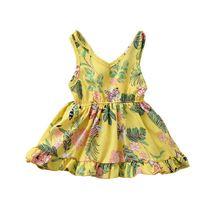 Платье ТРАПЕЦИЕВИДНОЕ с оборками v образным вырезом и подолом