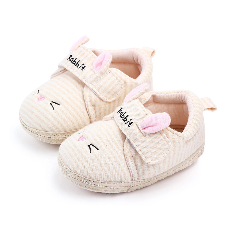 Cartoon Animals Baby Shoes For Newborn Baby Boys Girls Shoes Soft Non-slip Shoes Cute Rabbti Infant Toddler Shoes