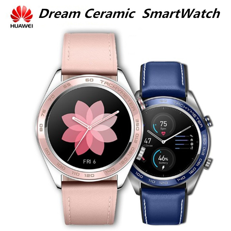 Huawei Honor Watch Dream Ceramic Face SmartWatch NFC GPS  Heart Rate Tracker Sleep Tracker  5ATM WaterProof  Working 7 Days