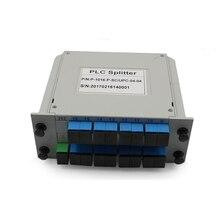 1x16 SC APC SC UPC PLC Splitter ไฟเบอร์กล่อง FTTH PLC Splitter กล่อง SC 1X16 PLANAR waveguide ประเภท Optical Splitter