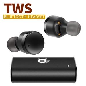 Bluetooth 5,0 наушники с шумоподавлением игровая гарнитура HD стерео водонепроницаемые беспроводные наушники 2000 мАч зарядная коробка с микрофоно...