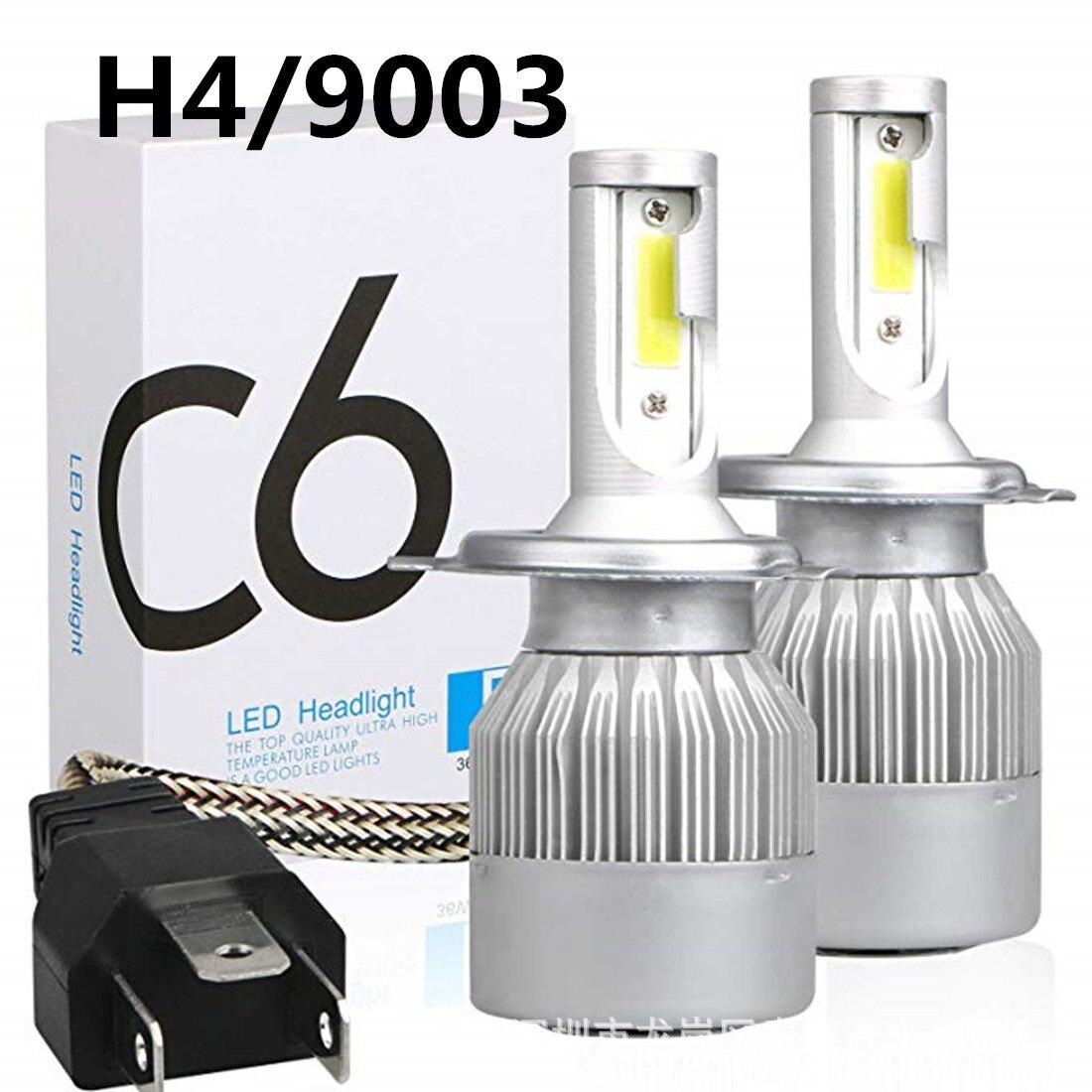 C6 H1 H3 Car Led Headlight Bulbs H7 LED Car Lights H4 880 H11 HB3 9005 HB4 9006 H13 6000K 72W 12V 7600LM Auto Headlamps 4