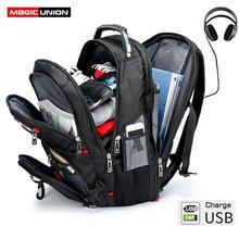 MAGIC UNION Mens Backpack USB Charging 15.6 inch Laptop Large Capacity Travel Bagpack Male mochila 2019 New