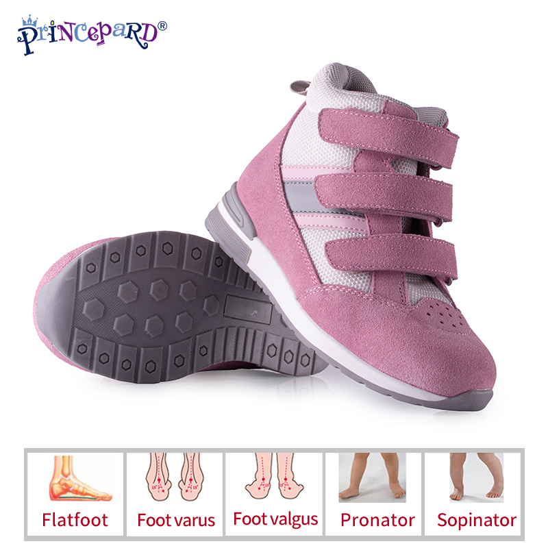 Princepard Orthopedic Shoes For Children With Ankle Support Kids Sneakers Shoes Babies Kids  Girls Boys First Walkers Shoes
