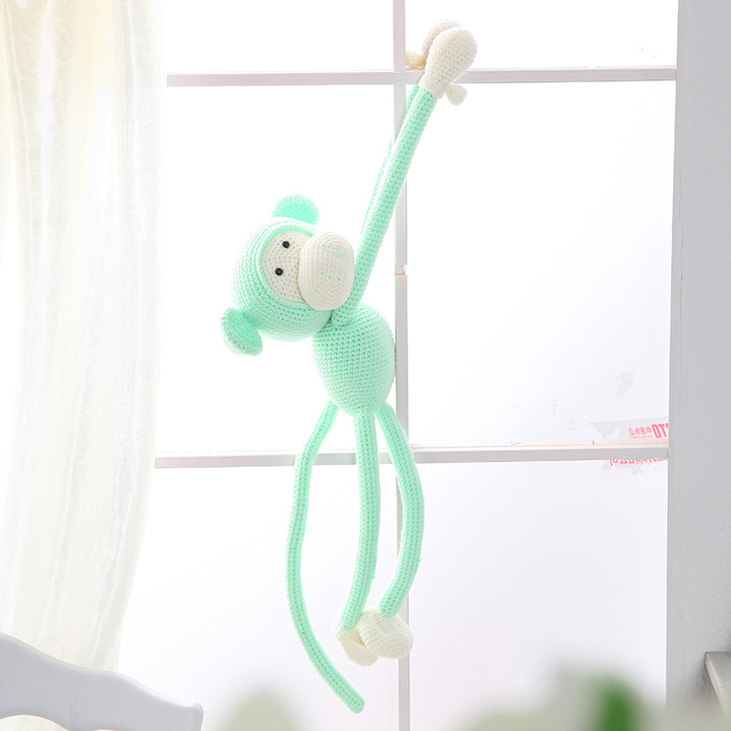 Handmade DIY Knitting Crocheted Doll DIY Materials Package Cotton Giraffe Monkey Plush Toy With Weaving Tools Children Gifts