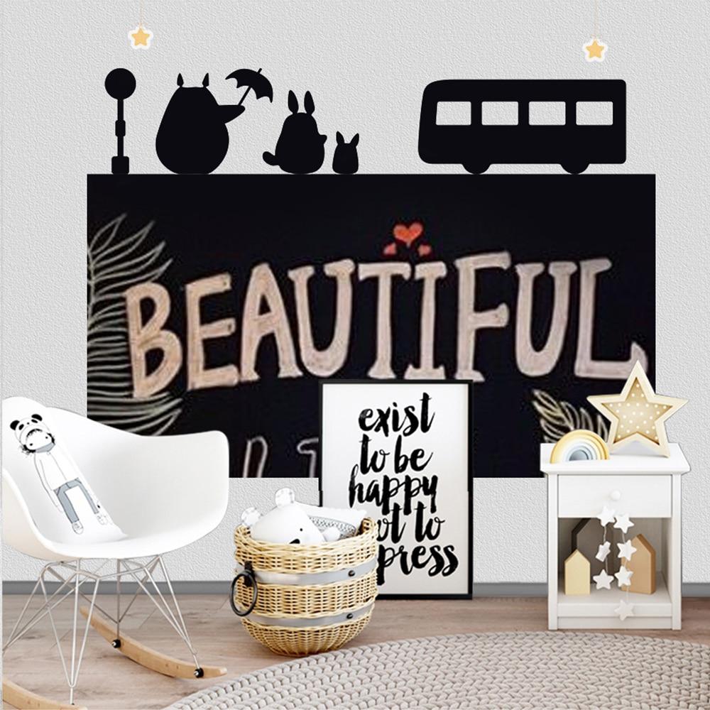 120x85cm Creative ChalkBoard Blackboard Wall Sticker Removable Kids Writing Painting Learning Message Board Home Decor Wallpaper