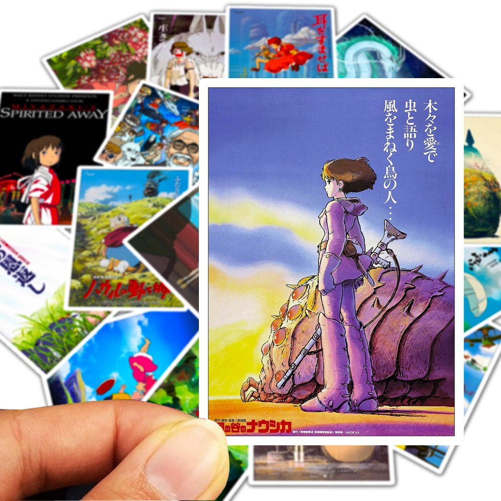 25pcs Miyazaki Hayao Anime Stickers My Neighbor Totoro/Spirited Away For Bike Laptop Motorcycle Skateboard Guitar Sticker