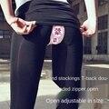 Уличные сексуальные брюки для женщин, длинные брюки FakeTwo, хлопковые обтягивающие леггинсы с высокой талией, женские черные сексуальные брюк...