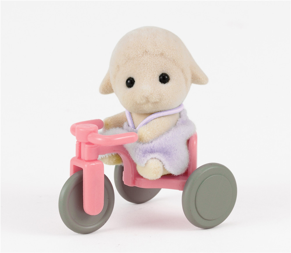 Sylvanian Families Toy Sylvanian Families Sheep Treasure And Bicycle GIRL'S Play House Doll 4561