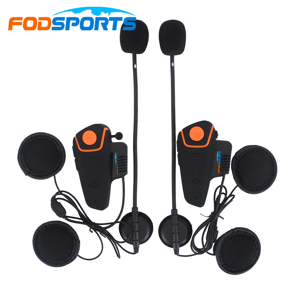 Fodsports Bt-S2 Pro Drahtlose Sprech Motorrad Bluetooth Helm Intercom-Headset 1000M Wasserdichte Intercomunicador mit FM