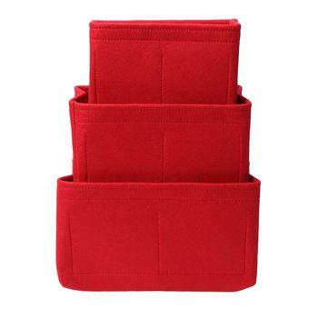 New Multifunction Women Felt Insert Bag Makeup Cosmetic Bags Travel Inner Purse Portable Handbag Storage Organizer Tote S/M/L 5