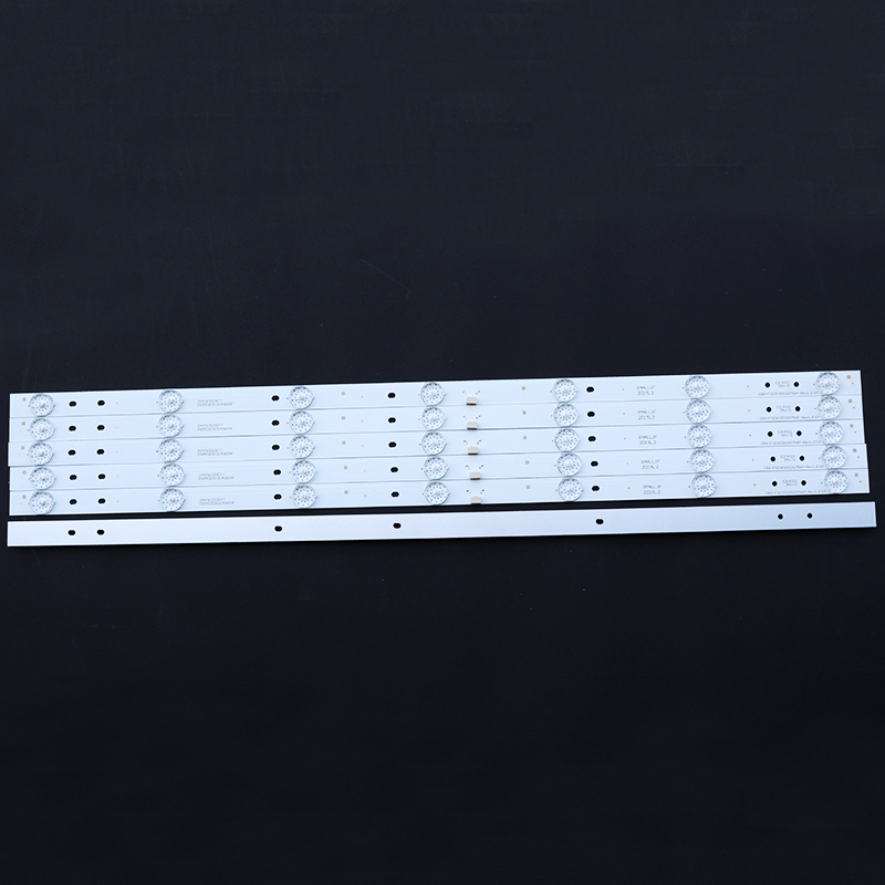 4 PCS/Lot 59cm 7leds 6V 32 Inch LED TV Backlight Strips For 32'' Haier LD32U3100 CRH-F323030020756P-REV1.0 Optical Lens Fliter