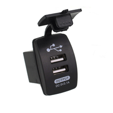 Lighter-Socket Car-Charger Usb-Plug Cigarette Motorcycle Mini Dual 12V with Waterproof-Panel