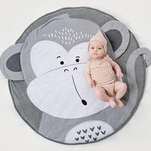 Детские коврики для игр, детские коврики для ползания животных, детские мягкие хлопковые коврики для сна, декор детской комнаты, реквизит для фотосессии 90 см