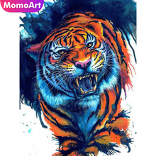 MomoArt Diamond Painting Tiger Diy Embroidery Animal Mosaic Full Square/round Rhinestone Home Decoration