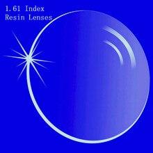 1.61 indeks soczewki korekcyjne CR 39 żywica asferyczne okulary soczewki do krótkowzroczności/nadwzroczności/prezbiopii bardzo cienki z powłoką