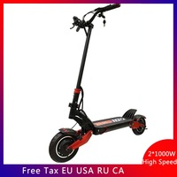 Newest Zero 10X scooter 10inch Double motor High Speed electric scooter 10inch Skateboard 52V 2000W off raod e scooter 65km/h