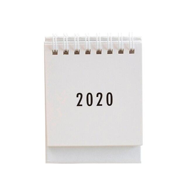 JIANWU simplicity agenda 2020 planner Table Calendar weekly planner Monthly To Do List Desktop Calendar office supplies 4