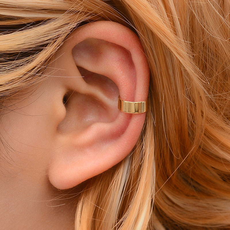 Modyle New Vintage Simple U-shaped Ear Cuff Non Pierced Clip Earring Trendy Punk Antique Color Small Flower Carved Hollow