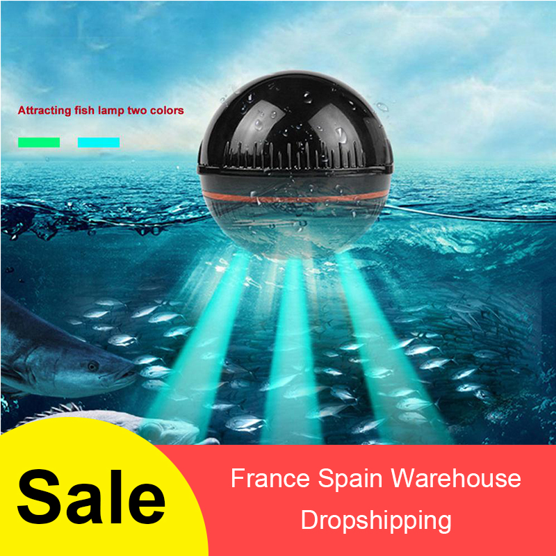 Smart Wireless Fish Finder Portable Wireless Sonar Fishfinder Compatible With IOS & Android  For Dock Shore Boat  Ice Fishing