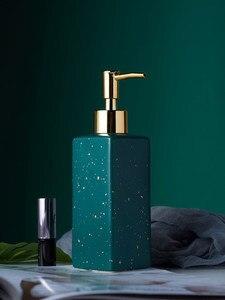 Image 2 - Ceramic Soap Dispenser Hand Sanitizer Bottle Nordic Bathroom Toilet Lotion Bottle Shower Gel Bottle Press Sub bottle Shampoo Bot